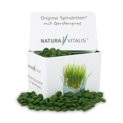 Spirulina z trawą jęczmienną (1000 szt.)